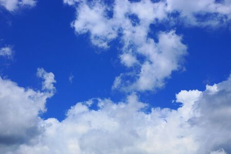 big white cloud on blue day sky Stockfoto