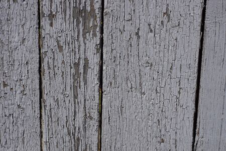 gray wooden background of old worn painted boards