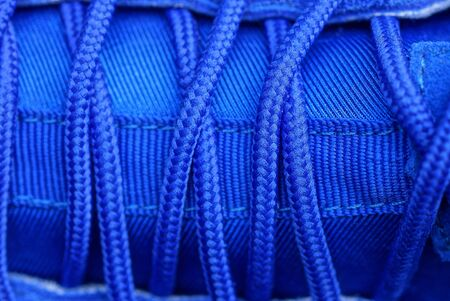blue lace texture on leather and sneaker fabric 스톡 콘텐츠