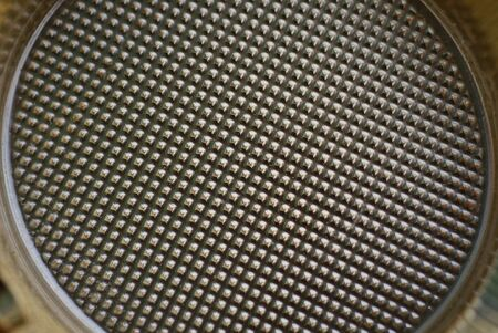 gray brown plastic texture from a piece of packaging with a pattern 版權商用圖片