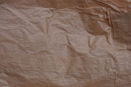 brown texture of a old crumpled piece of paper