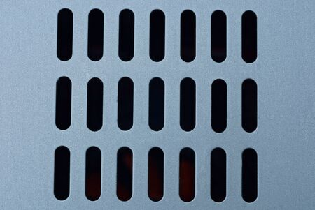 gray metal texture of iron grill on fan
