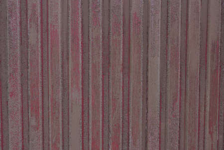 gray red texture of striped iron wall fence Stockfoto