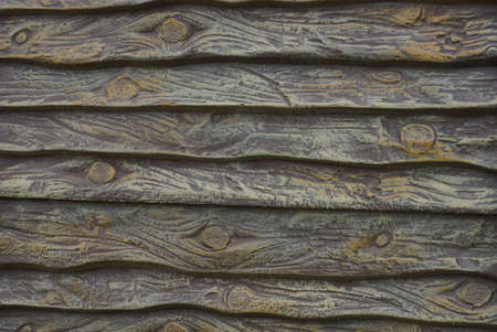 gray wooden background of a boards in the wall of the fence Stockfoto