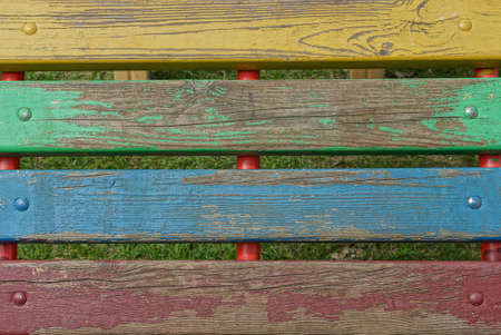 colored wooden texture from a row of boards in the fence wall