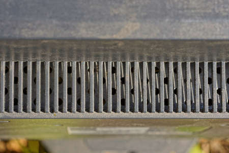 gray black metal texture of iron grill on fan