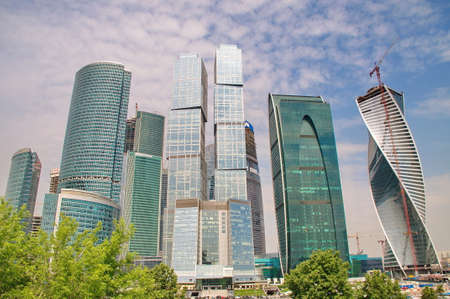 moscow: Moscow City Skyscrapers, Moscow. Editorial