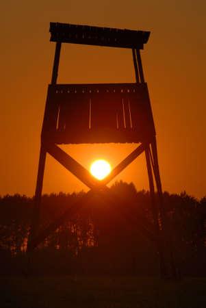 watchtower: A watchtower in Auschwitz