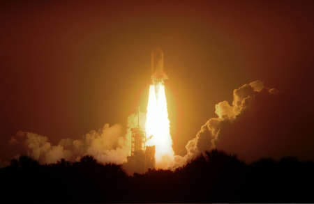 The nightlaunch of Space Shuttle Atlantis