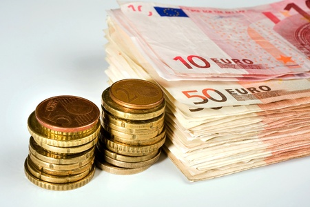 papermoney: Euro papermoney and coins