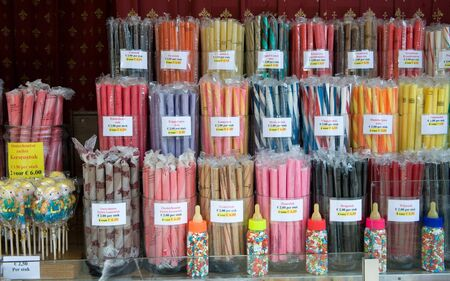 bonbon: A lot of different acid grips and other sweets in a candy store