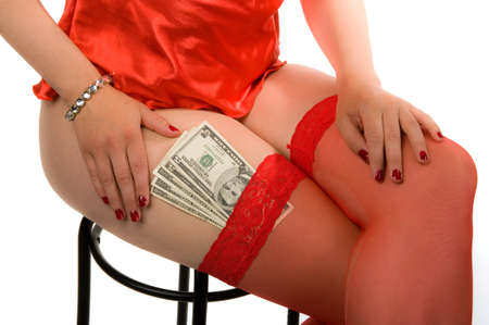 Sex for money with an attractive hooker  Stock Photo - 9763585