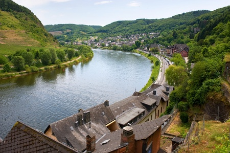 moseltal: The city of Cochem on the banks of the river mosel