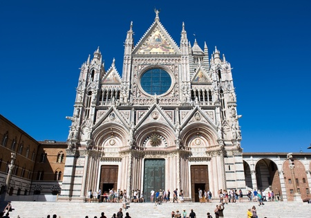 The Duomo (cathedral) in the heart of Siena in Tuscany in Italy. Editorial