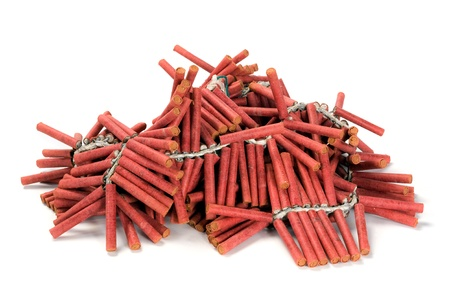 A bunch af red firecrackers