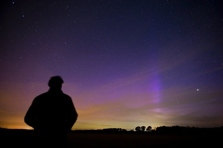 The aurora borealis as seen from the Netherlands on 16-07-2012