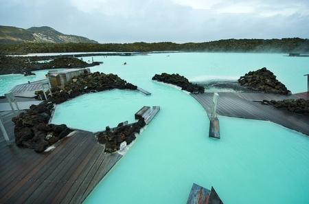 blue lagoon: Il Blue Lagoon geotermica resort bagno in Islanda Archivio Fotografico