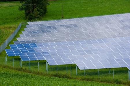 Sunpanels in a field in southern Germany photo