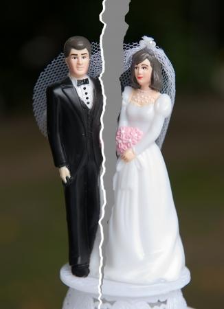 divorcio: Freno de una pareja casada Foto de archivo