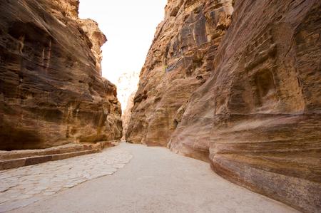 siq: The siq is a 1,2 kilometers long narrow gorge and leeds tourist into Petra in Jordan