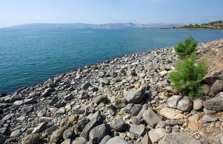 kefar: The beach of Capernaum on the sea of Galilee