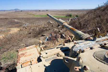 tal: Old tank of the yom kippur war at