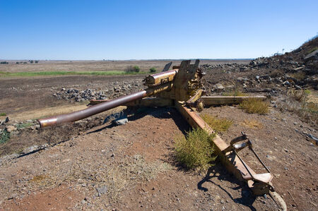 middle east war: Artillery left of the yom kippur war on