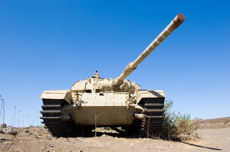 kippur: Old centurion tank of the yom kippur war at Editorial