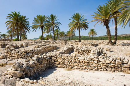 israelite: Remains and ruins in Tel Megiddo National park in Israel