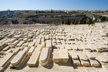 Old jewish graves on the mount of olives in Jerusalem