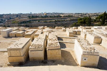 mount of olives: Old jewish graves on the mount of olives in Jerusalem