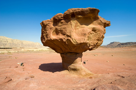 The Mushroom rock formation at Timna Park in the southern negev desert in Israel photo