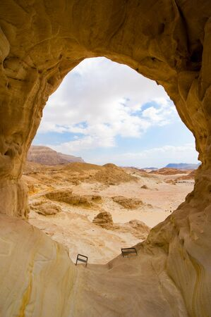 timna: The Arches rock formation at Timna Park in the southern negev desert in Israel