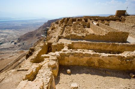 masada: The Storeroom complex on the top of the rock Masada in Israel