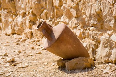 masada: Lot in one of the storerooms in Masada in Israel