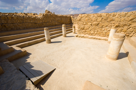 The synagogue from Masada in Israel photo
