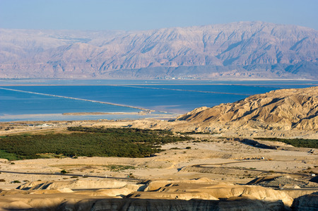 dead sea: Southern part of the dead sea as seen from the rock Masada