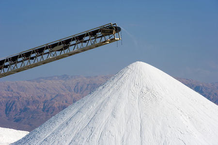 mineral salt: The dead sea works are producing potash products, magnesium chloride, industial salts, de-icers, bath salts, table salt, and raw materials for the cosmetic industry.