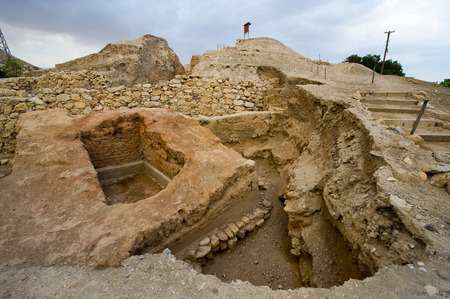 oldest: Old ruins in Tell es-Sultan better known as Jericho the oldest city in the world