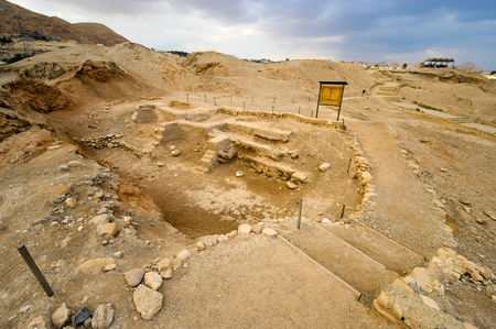 oldest: Old ruins and remains in Tell es-Sultan better known as Jericho the oldest city in the world Stock Photo