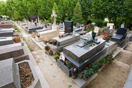 edith: PARIS, FRANCE - JULY 27, 2015: Grave of singer and star Edith Piaf on cemetery Pere Lachaise in Paris in France. Its one of the most visited graves by tourists on this cemetery