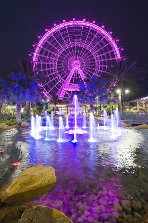 observation wheel: ORLANDO, FLORIDA, USA - APRIL 30, 2016: The Orlando Eye is a 400 feet tall ferris wheel in the heart of Orlando and the largest observation wheel on the east coast Editorial