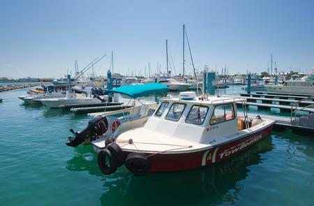 key west: KEY WEST, FLORIDA, USA - MAY 02, 2016: Boats in the harbor of Key West in Florida