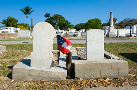 gravesite: KEY WEST, FLORIDA, USA - MAY 02, 2016: The Key West cemetery is a 19-acres cemetery, and about 100.000 people are buried here.