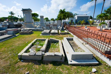 KEY WEST, FLORIDA, USA - MAY 02, 2016: The Key West cemetery is a 19-acres cemetery, and about 100.000 people are buried here.