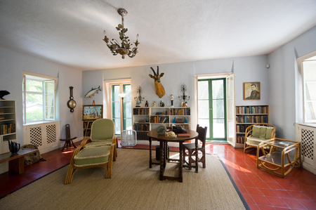 ernest: KEY WEST, FLORIDA, USA - MAY 03, 2016: Room where Ernest Hemingway worked in the Hemingway House in Key West in Florida. Editorial