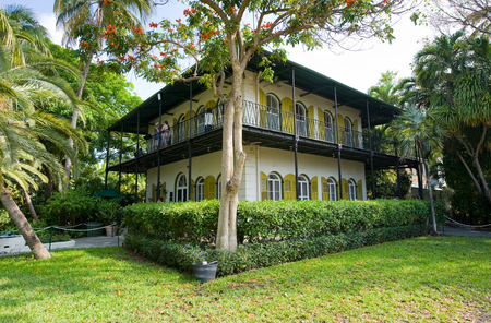 florida house: KEY WEST, FLORIDA, USA - MAY 03, 2016: The Ernest Hemingway House with garden in Key West in Florida.