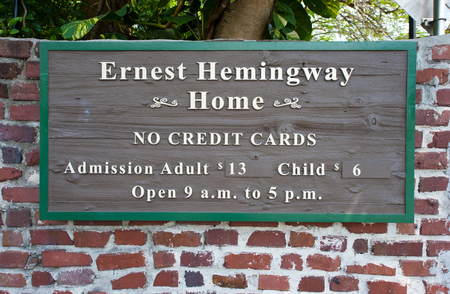 florida house: KEY WEST, FLORIDA, USA - MAY 02, 2016: Entrance of the Hemingway House in Key West in Florida. Editorial