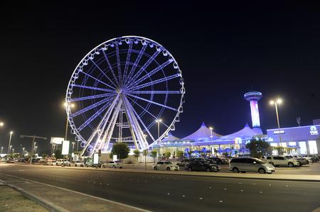 ABU DHABI, UNITED ARAB EMIRATES - 02 JAN, 2018: The Marina eye is a Ferris Wheel on Corniche near the centre of Abu Dhabi. Editorial