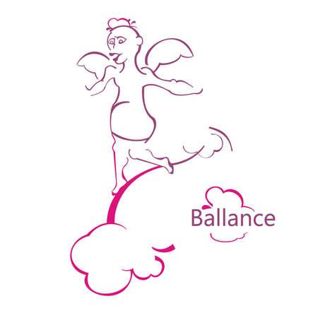 balans engel Stock Illustratie
